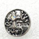 Rhinestone Mini snap button 12mm gingersnap Jewelry Medium Cross Clear