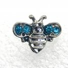 Rhinestone Mini snap button 12mm gingersnap     Jewelry Blue Bee