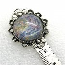 Handmade bookmark Ruler hand painted dome