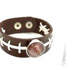 Leather Snap Bracelet handmade snap 18mm