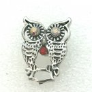 Snap 20mm Owl clear crystals