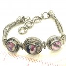 Bracelet Stainless Steel  3x12mm snaps Adjustable  Great Gift Valentine's Day