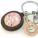 Handmade dome keychain charms watch