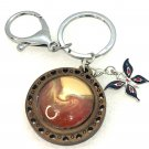 Handmade dome keychain charms butterfly