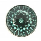 Mandala #5 teal Snap Charm Fit 18-20mm Gingersnaps Jewelry snap button Fast Ship