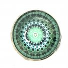 Mandala #8 teal Snap Charm Fit 18-20mm Gingersnaps Jewelry snap button Fast Ship