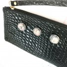 Zipper Clutch withHandmade 20mm Snap Small  Party