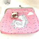 Unicorn Coin purse with handmade 20mm snap