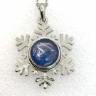 Snowflake Pendant 20mm handmade Snap  Necklace 18mm Snap Jewelry