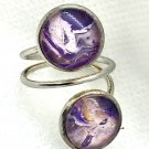 Double domes Handmade Ring wire silver plated copper adjustable
