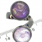 Double domes Handmade Ring Wide  adjustable band