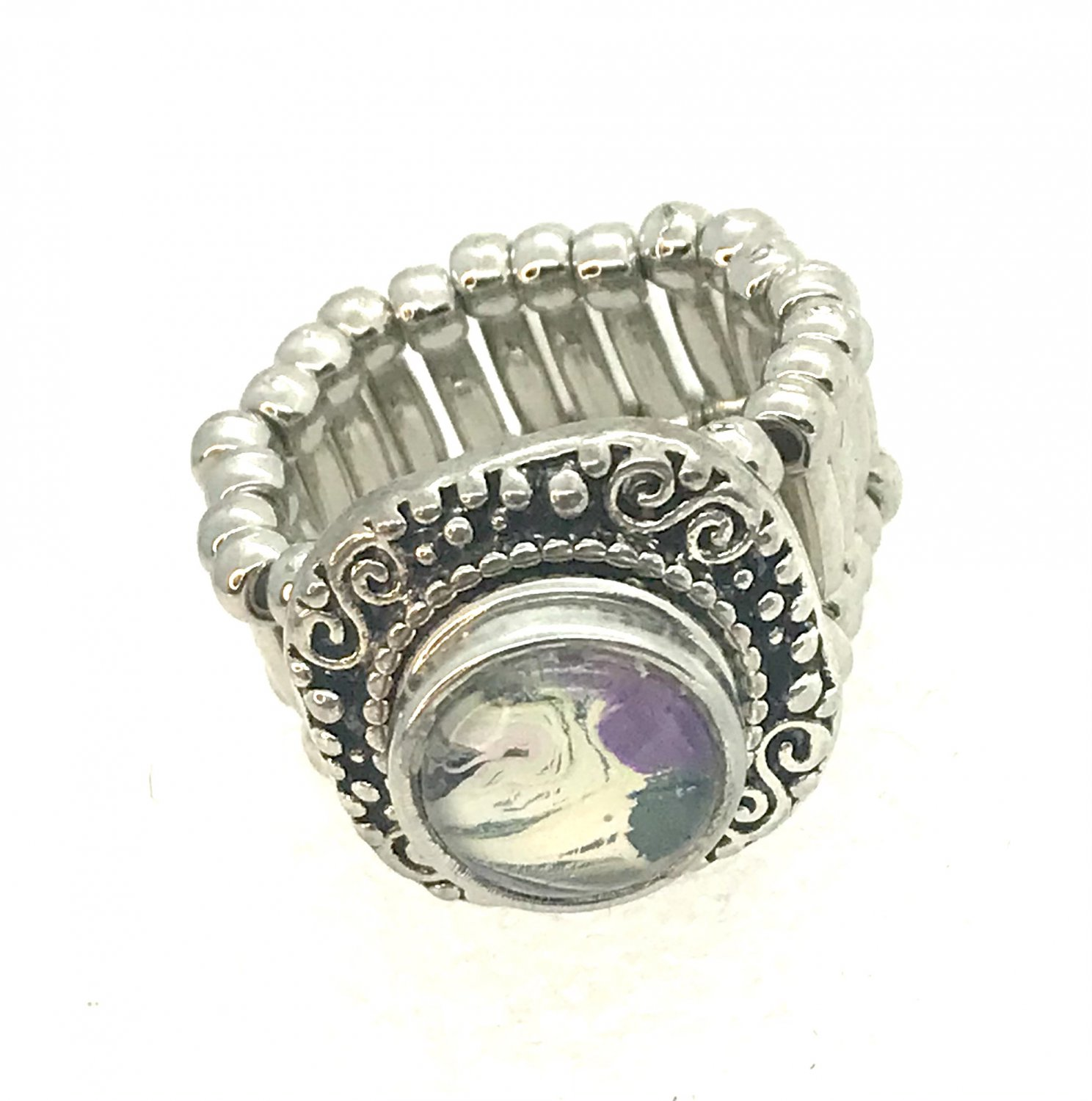 Snap 12mm ring stretchable  Handmade snap