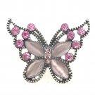 Snap 20mm Pink purple butterfly