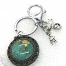 Handmade dome keychain charms dog love