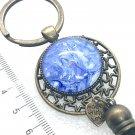 Handmade dome keychain charms tassels bronze