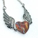 Wings Pendant Necklace 18mm Snap Jewelry Stainless Steel Chain Fast Shipping