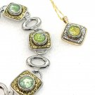 Set Handmade 12mm x4 snaps Bracelet and snap  12mm Pendant Gold and silver color
