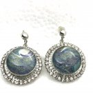 Stainless Steel Stud 18-20mm  Snap Charm Earrings Hand painted Snaps