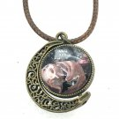 Pendant Hand Painted globe double dome rotating bronze setting