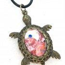 Pendant Hand Painted Turtle Teachers Birthday Mother Valentines Christmas Gift