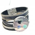 Leather Snap Bracelet handmade 30mm Snap