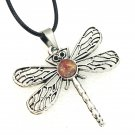 Dragonfly necklace Hand Painted 20mm Birthday Mother Valentines Gift