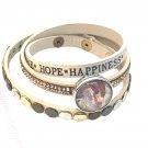Wrap Bracelet For Snap 18-20mm Adjustable Crystal Embellishments Fast Shipping