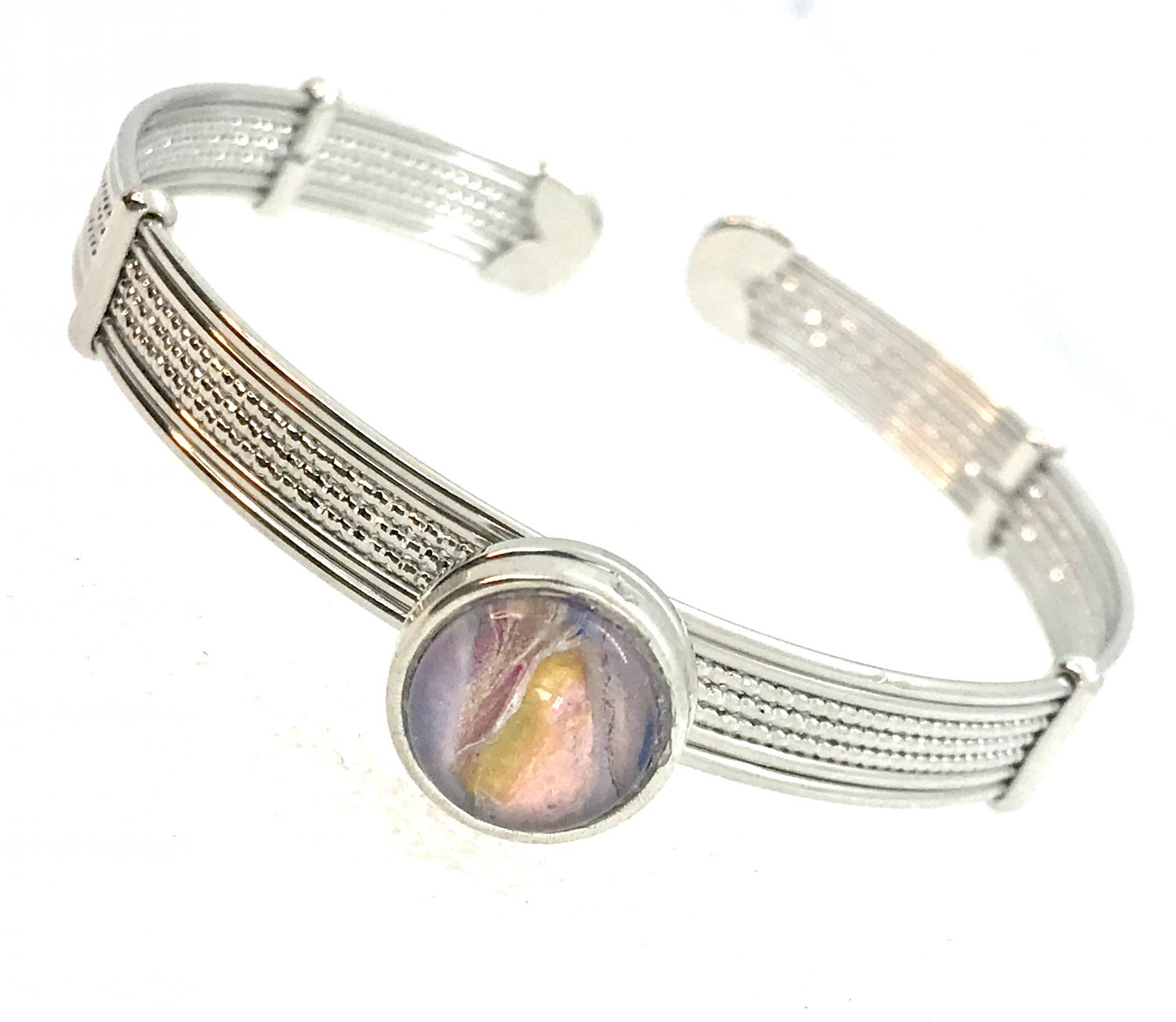 Bracelet  Mini Snap 12mm Handcrafted Bangle  Gift Fast Shipping