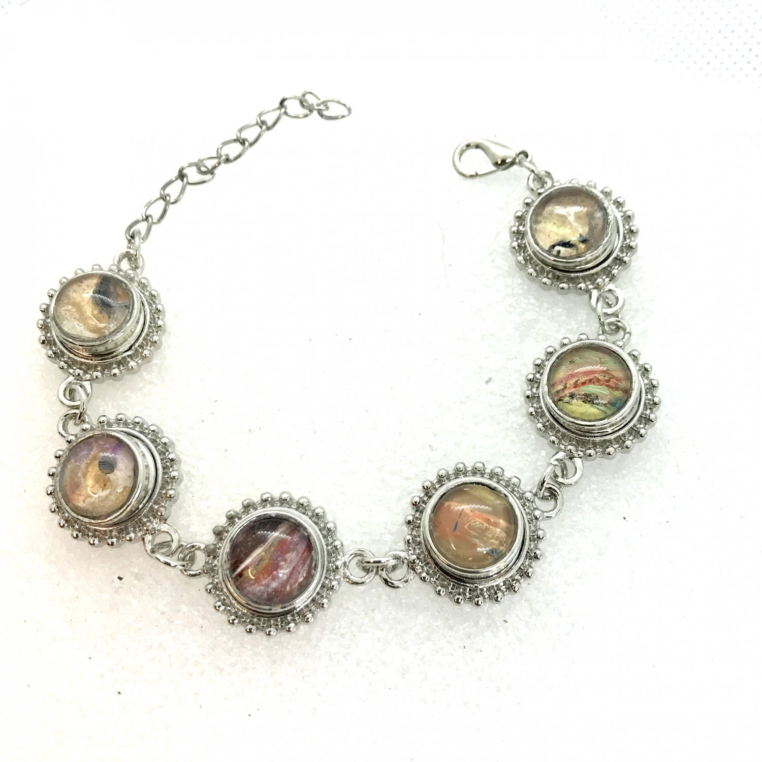 Bracelet 6x Mini Snap 12mm Adjustable Handcrafted Valentine Gift Fast Shipping