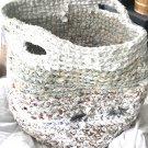 Rag Rug  handmade Basket Pets Toys Laundry