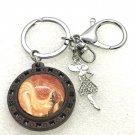 Handmade dome keychain charms Fashion girl