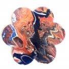 Flower shaped handpainted coaster/Christmas tree  ornament