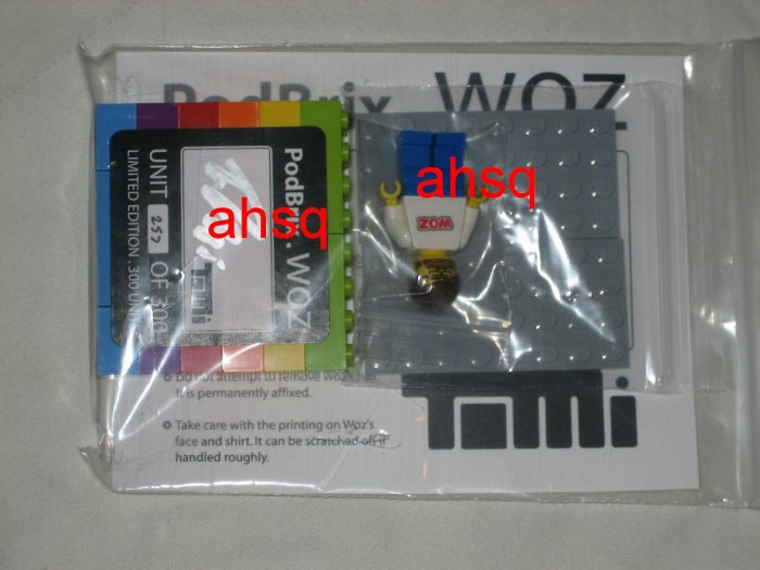 """Authentic Legos Podbrix """"Woz"""" Collectible for Apple iPod #257 of 300"""
