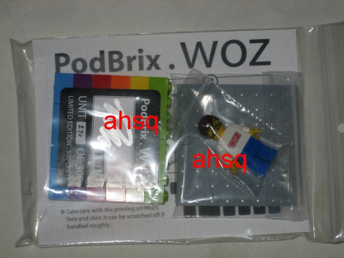 "Authentic Legos Podbrix ""Woz"" Collectible for Apple iPod #270 of 300"