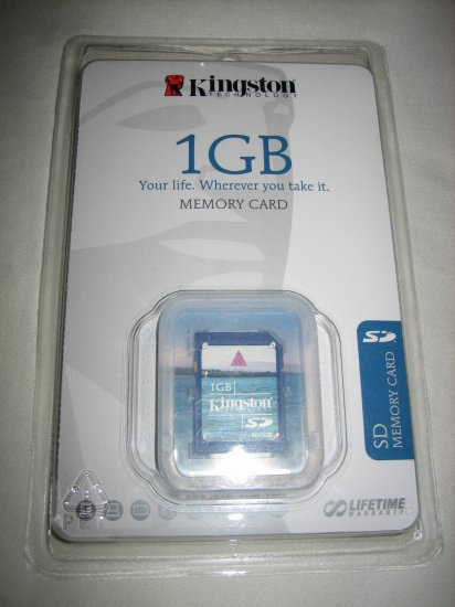 Kingston 1 GB Secure Digital SD Card SD/1GBKR