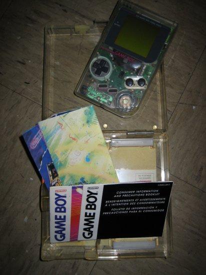 Original Dot Matrix Nintendo Game Boy - Handheld game system - transparent