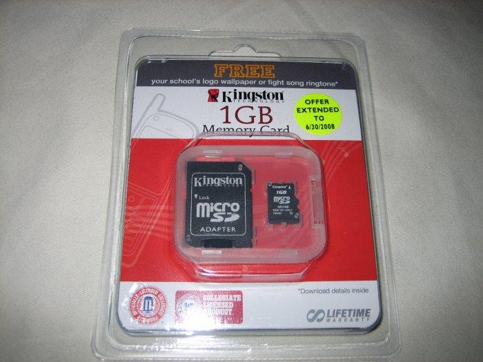 Kingston 1GB microSD Special Education Logo Edition Secure Digital Flash Card Reader - SDC/1GB-EDU
