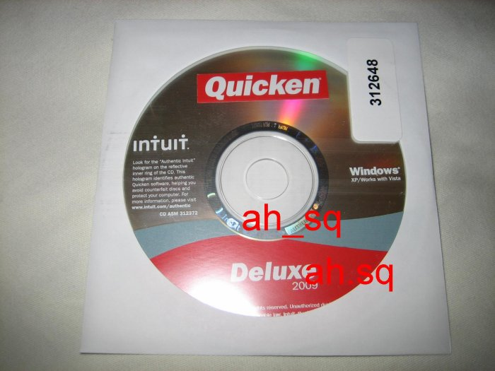 Brand New Authentic Intuit Quicken Deluxe 2009
