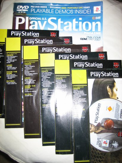 Last Issue of Official Playstation Magazine plus Demo DVDs OPM