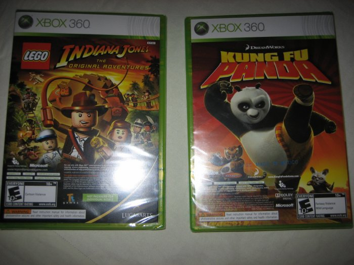 Brand New Xbox 360 Kung Fu Panda & Lego Indiana Jones Games