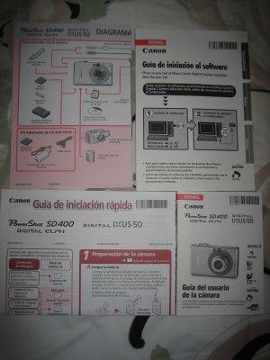 MANUALS POR POWERSHOT SD400 DIGITAL CAMERA DIAGRAMA