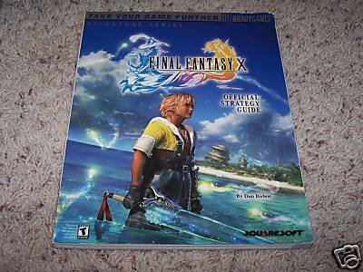 FINAL FANTASY X BRADYGAMES OFFICIAL STRATEGY GUIDE