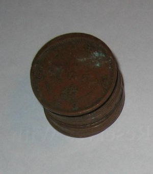 """Copper Circulated Qing Dynasty """"As Ten"""" Coin"""