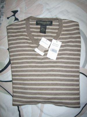 Brand New Banana Republic 100% Cotton Stripped Crewneck Long Sleeves Sweater