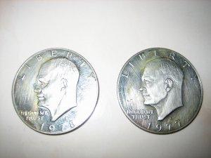 Circulated Ike Eisenhower Dollar USA Proof 1977S 1978S
