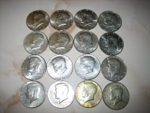 JFK Kennedy Half Dollar USA 40% Silver Clad 1966 1967 1968D 1969D Circulated
