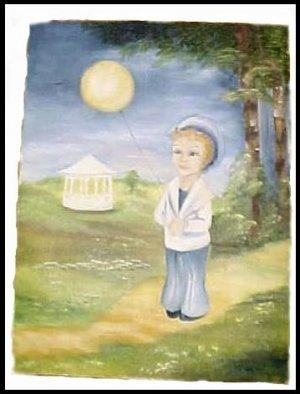 Little Boy Blue Vintage Sailor Boy Painting Nursrey $30