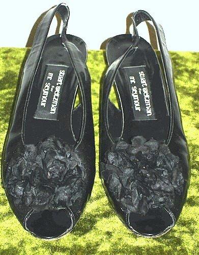 Vintage Stuart Weiztman Mr Seymour Patent Leather Shoes Kitten heel 1960's 60's 7.5N $15