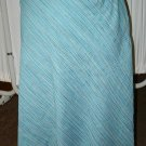 Parisian Dept Store Lt Blue & Green Striped Skirt 14 L Large $8