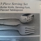Oneida Hostess Set  Butter knife, Serving Fork & Spoon- Falkirk